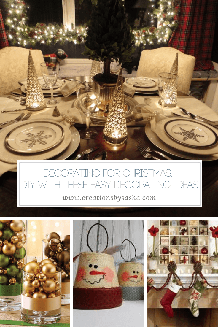 Decorating for Christmas -DIY With These Easy Decorating Ideas - www.by-sasha.com