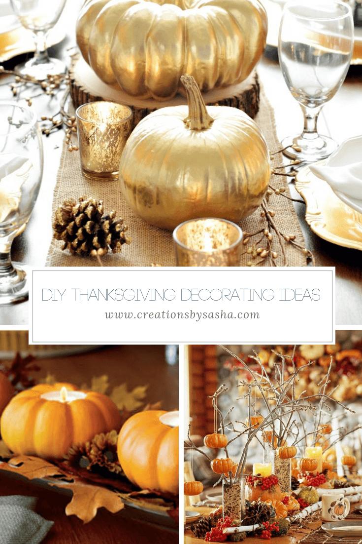 DIY Thanksgiving Decorating Ideas - www.by-sasha.com