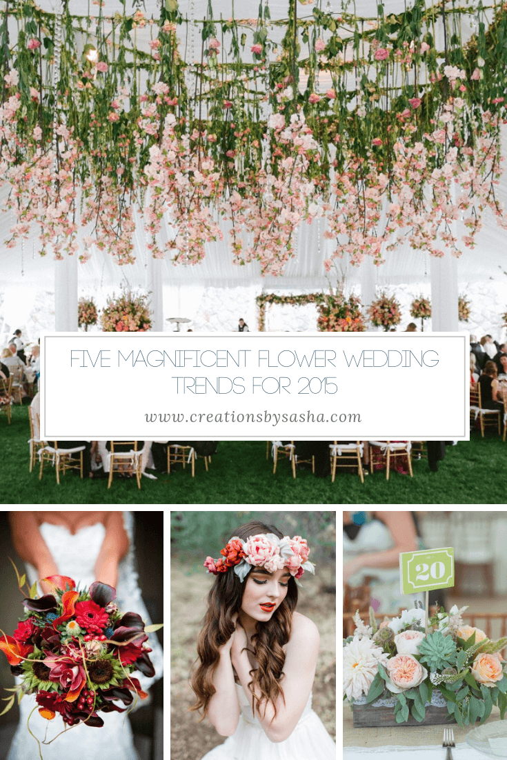 Five Magnificent Flower Wedding Trends for 2015 - www.by-sasha.com