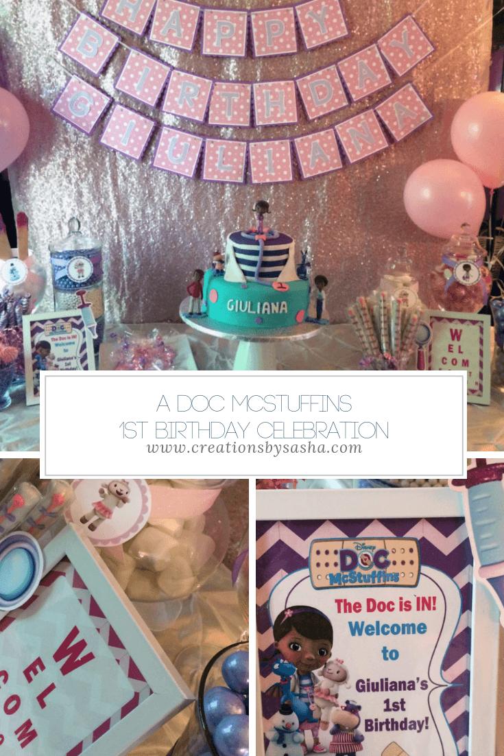 A Doc McStuffins 1st Birthday Celebration - www.by-sasha.com