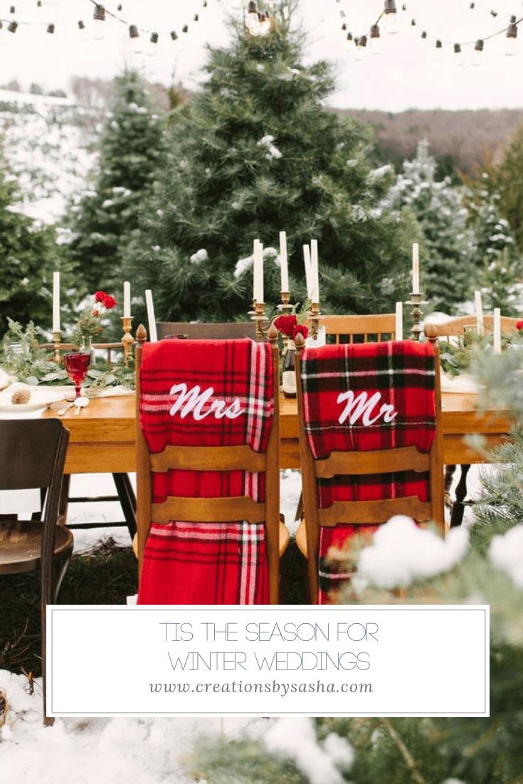 Tis the Season for Winter Weddings - www.by-sasha.com