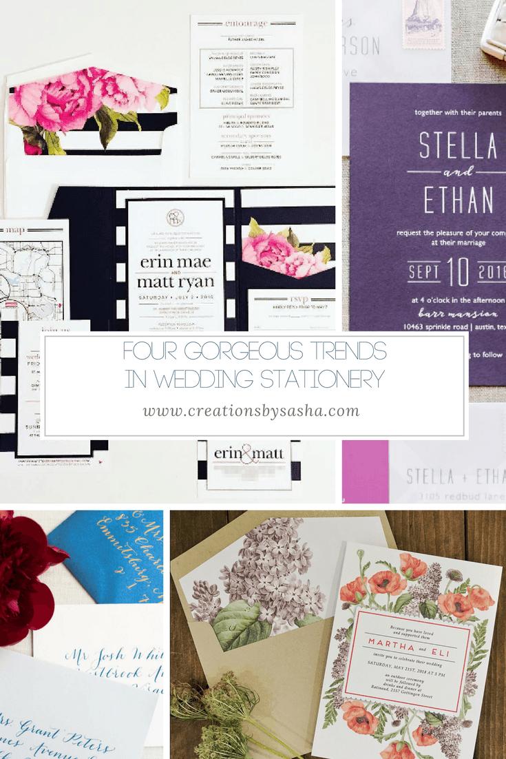 Four Gorgeous Trends in Wedding Stationery - www.by-sasha.com