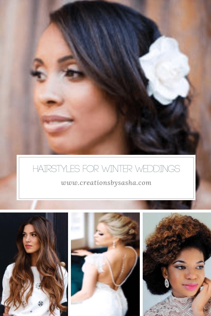 Hairstyles for Winter Weddings - www.by-sasha.com