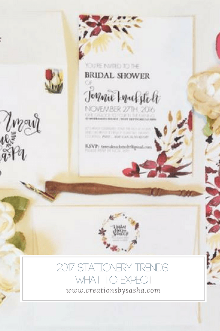 2017 Stationery Trends - What To Expect - www.by-sasha.com