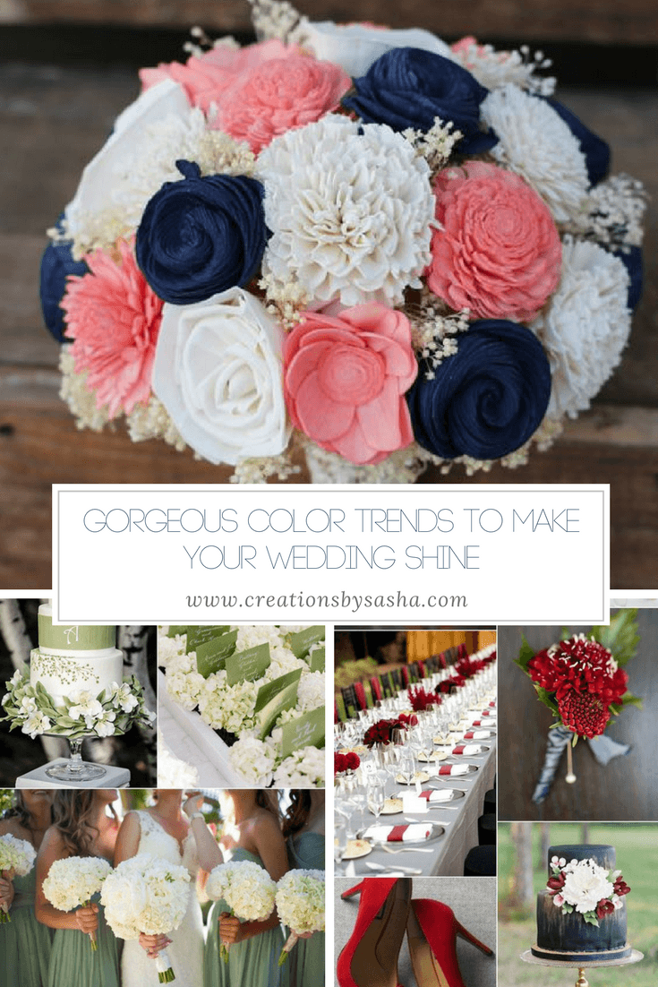 Gorgeous Color Trends to Make Your Wedding Shine - www.by-sasha.com
