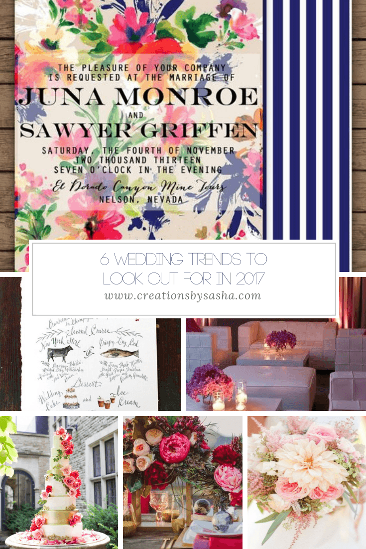 6 Wedding Trends to Look Out For in 2017 - www.by-sasha.com