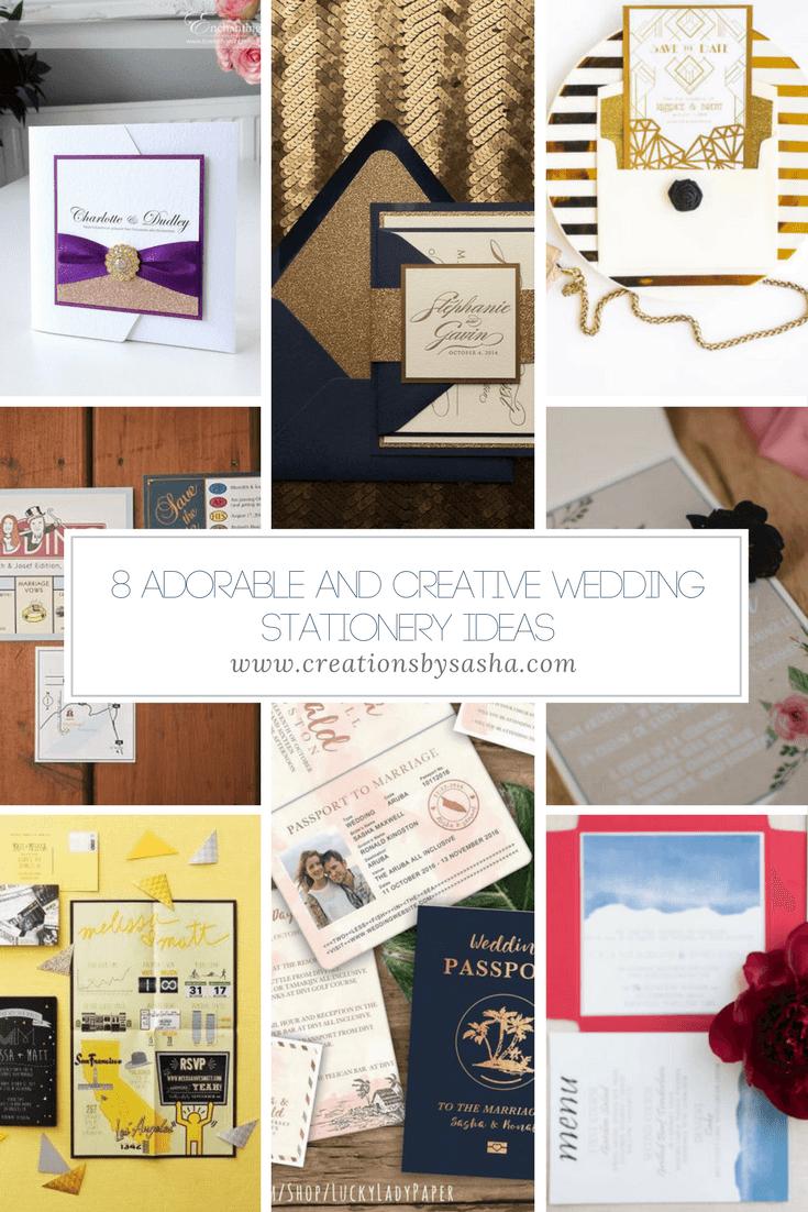 8 Adorable And Creative Wedding Stationery Ideas - www.by-sasha.com