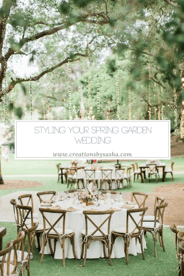 Styling Your Spring Garden Wedding - www.by-sasha.com
