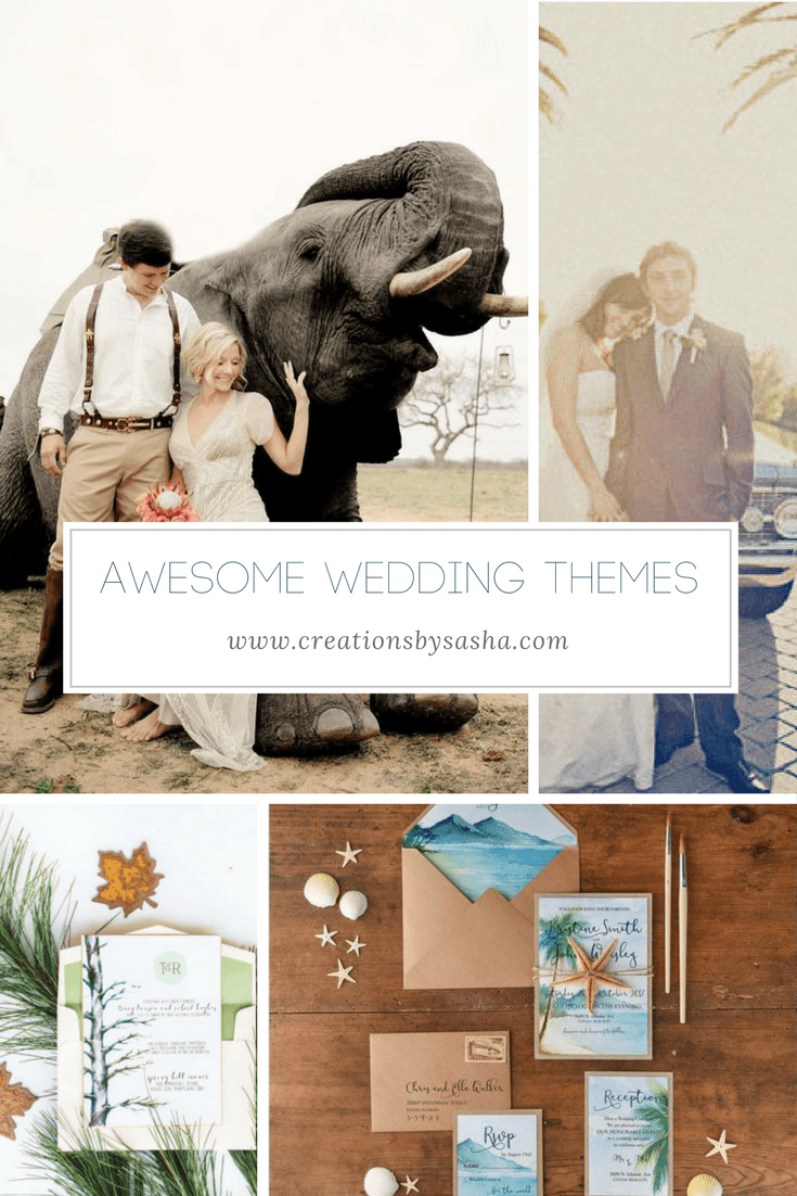 unique wedding themes, wedding trends, african wedding, beach wedding, nature wedding, car lover wedding