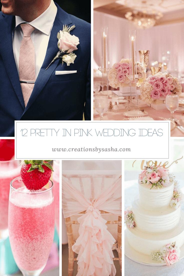 12 Pretty In Pink Wedding Ideas - www.by-sasha.com