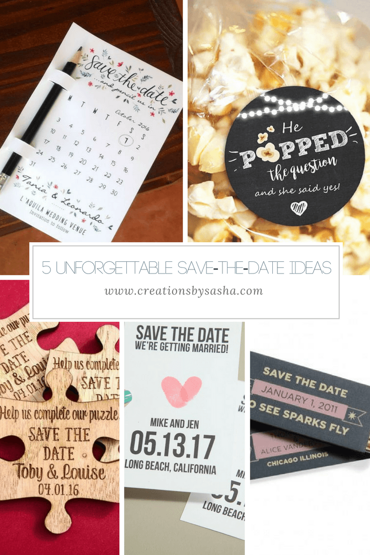 5 Unforgettable Save-the-Date Ideas - www.by-sasha.com