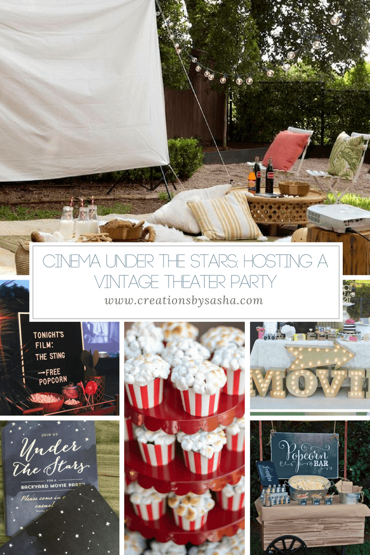 Cinema Under the Stars: Hosting a Vintage Theater Party - www.by-sasha.com
