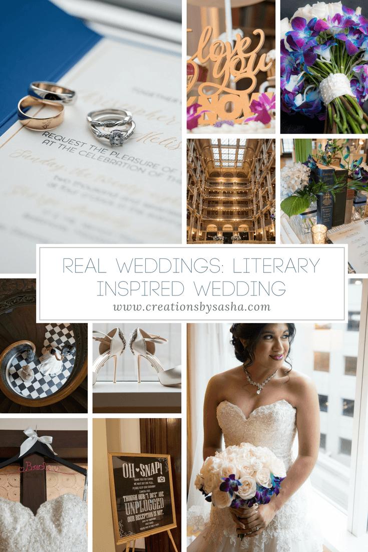 Real Weddings - Literary Inspired Wedding - www.by-sasha.com