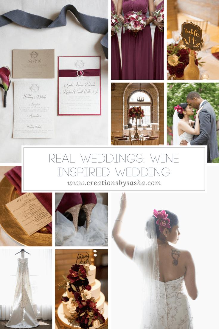 Real Weddings - Wine Inspired Wedding - www.by-sasha.com