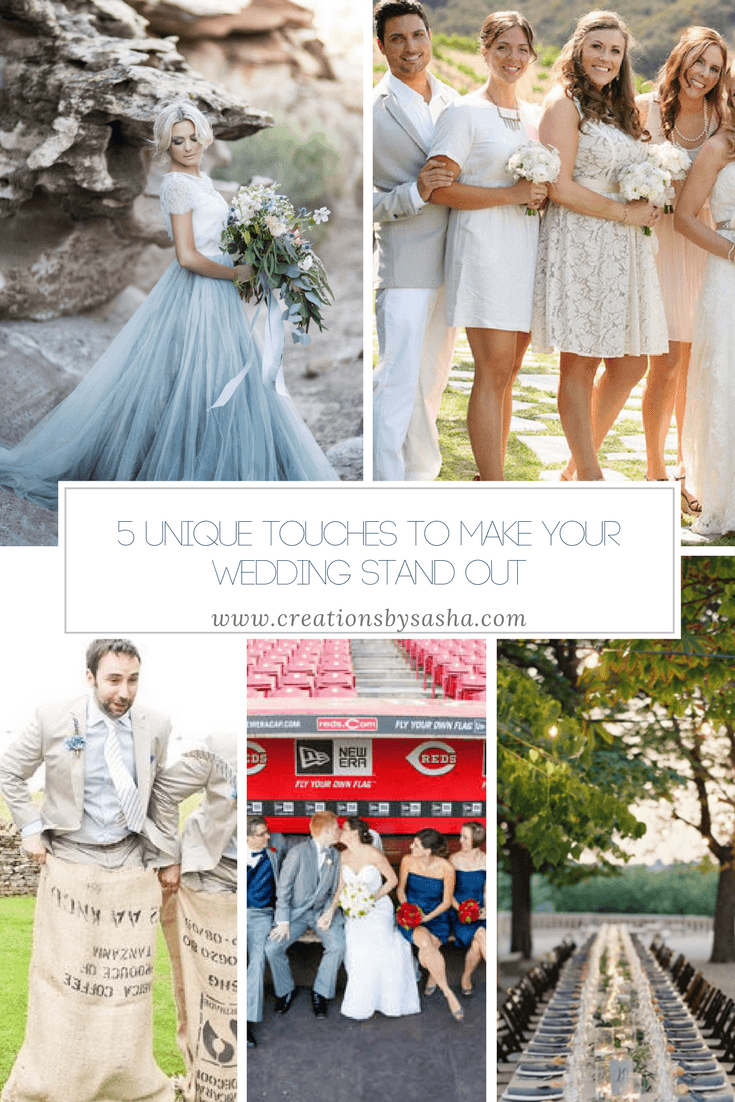 5 Unique Touches to Make Your Wedding Stand Out - www.creationsysasha.com