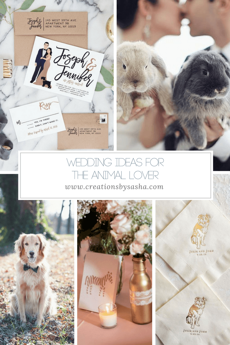 Wedding Ideas for the Animal Lover - www.by-sasha.com