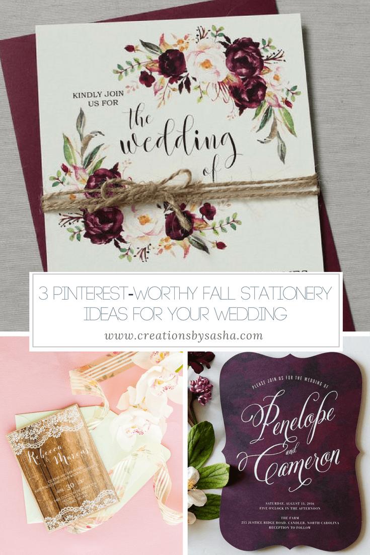 3 Pinterest-Worthy Fall Stationery Ideas for Your Wedding - www.by-sasha.com