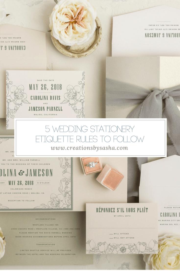 5 Wedding Stationery Etiquette Rules to Follow - www.by-sasha.com
