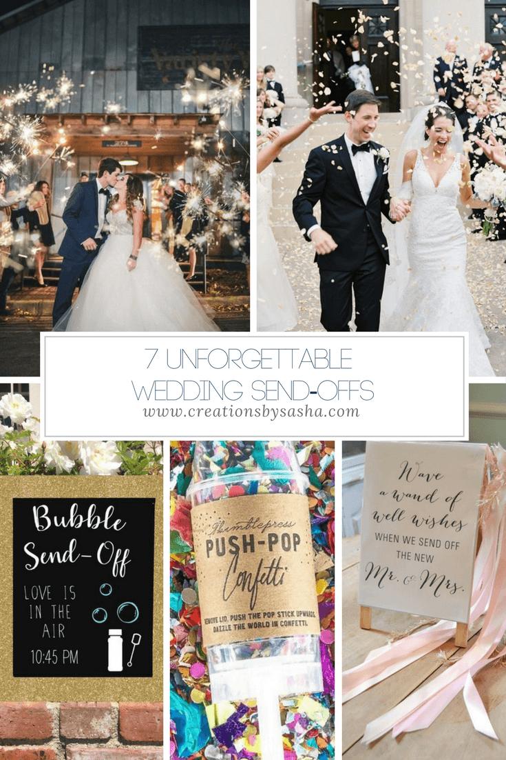 7 Unforgettable Wedding Send-Offs - www.by-sasha.com