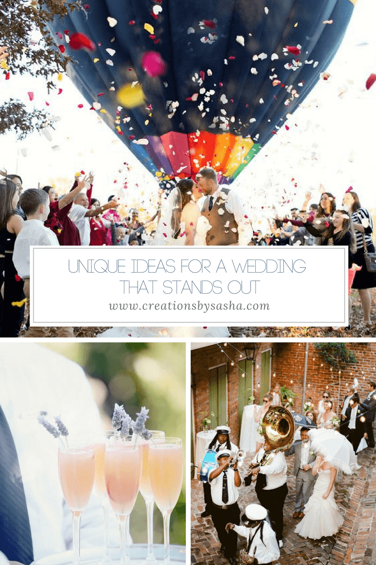 Unique Ideas for a Wedding That Stands Out - www.by-sasha.com