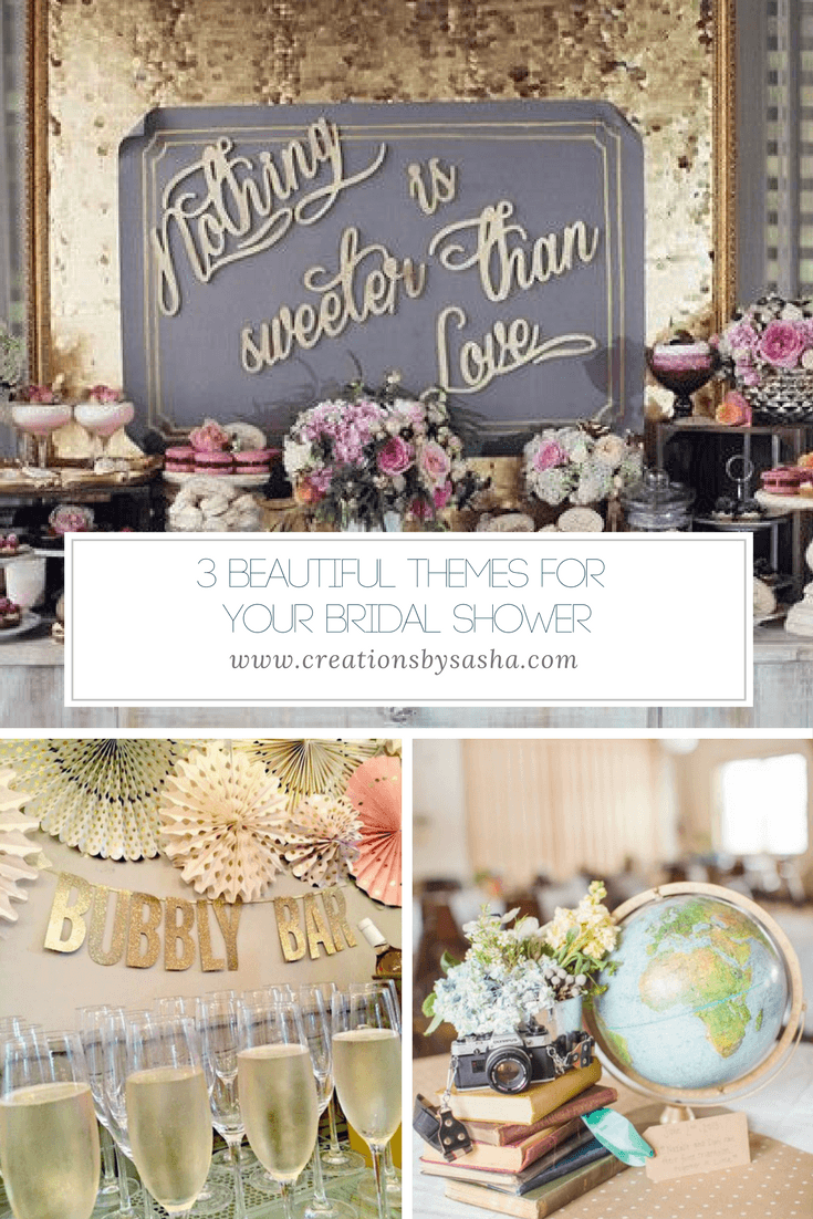 3 Beautiful Themes For Your Bridal Shower - www.by-sasha.com