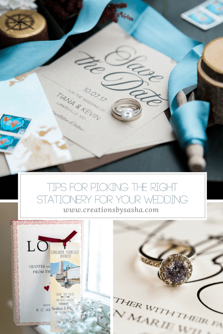 Tips for Picking the Right Stationery for Your Wedding - www.by-sasha.com
