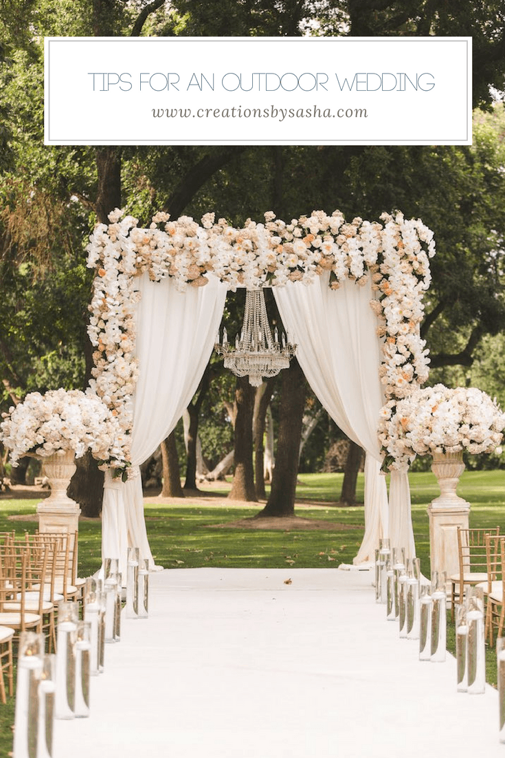 Tips for an Outdoor Wedding - www.by-sasha.com