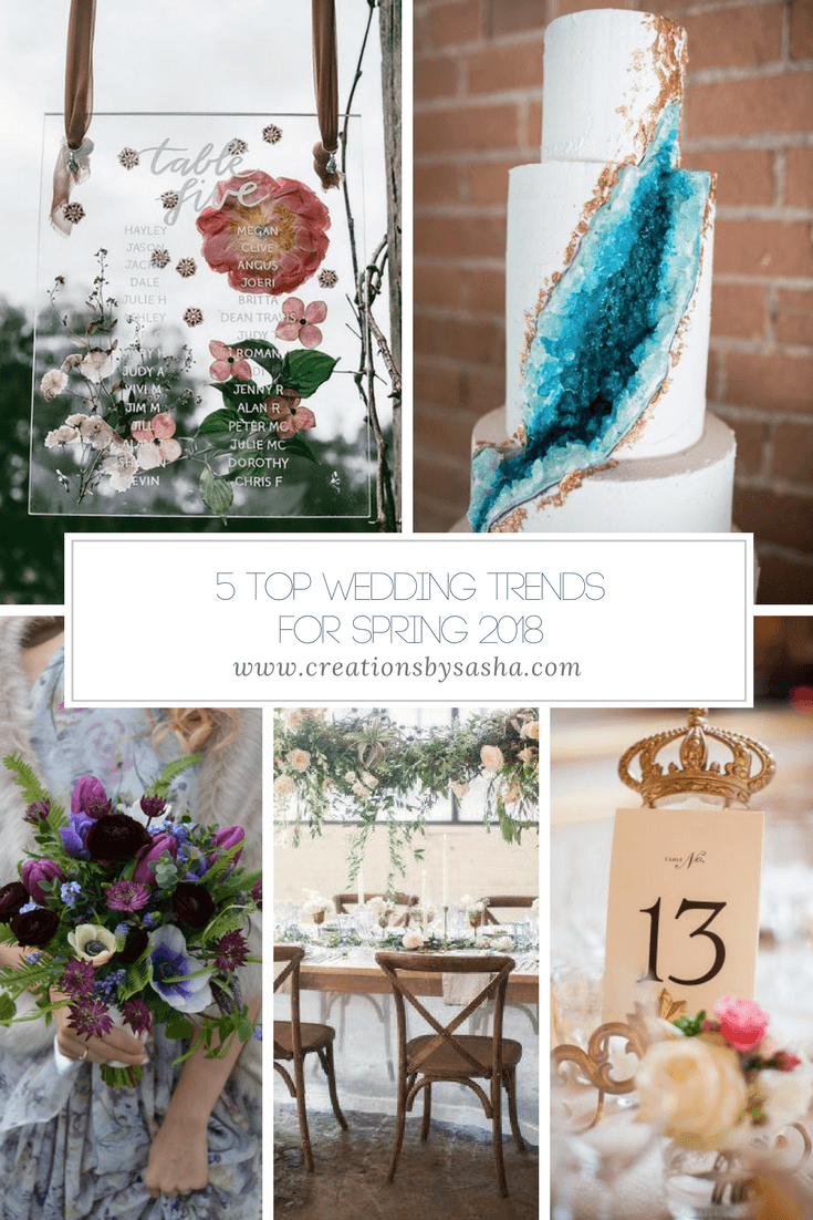 5 Top Wedding Trends for Spring 2018 - www.by-sasha.com