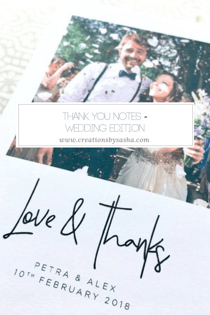 Thank You Notes - Wedding Edition - www.by-sasha.com