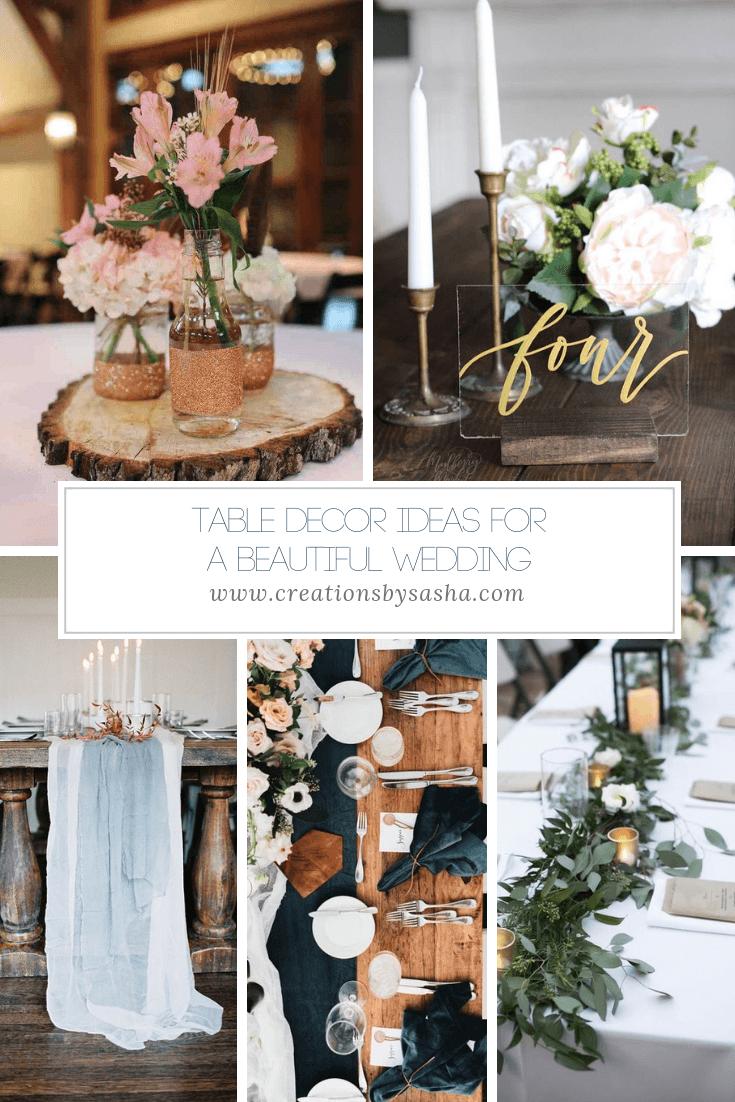 Table Decor Ideas for a Beautiful Wedding - www.by-sasha.com