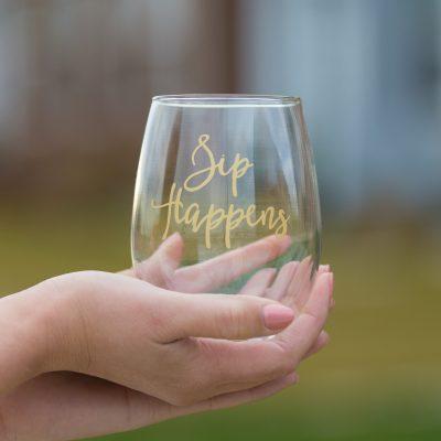 Sip Happens Stemless Wine Glass - www.by-sasha.com