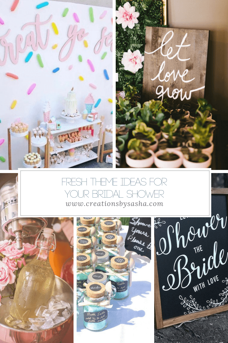 Fresh Theme Ideas For Your Bridal Shower