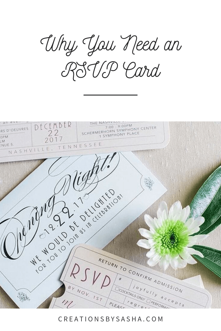 Why You Need an RSVP Card - Invitation with RSVP Card - www.by-sasha.com