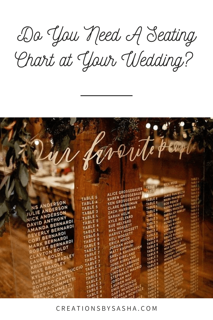 Do You Need A Seating Chart at Your Wedding?