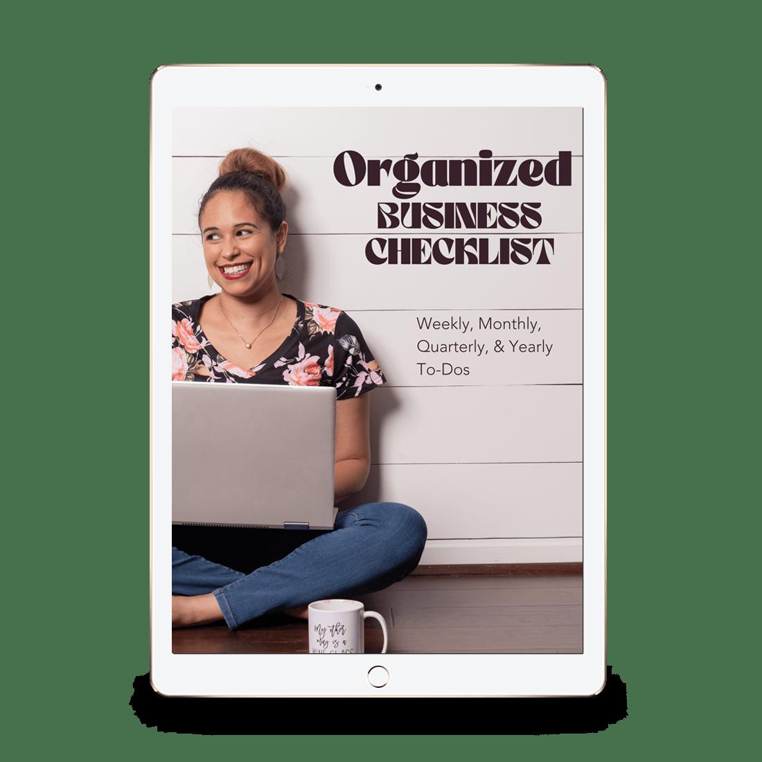 Organized Business Checklist IPad Mockup